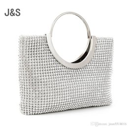 Men S Clutch Bags Australia - Nice Diamond-studded Handbag Evening Bag Evening Bag With A Diamond Bag Womens Rhinestone Banquet Handbag Day Clutch Female 2 Color
