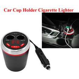 Discount music player types Multifunction Cup Type Bluetooth FM transmitter Car Kit with Dual Cigarette Lighter Socket Dual USB Charger Car Music MP