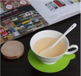 Großhandel Neue 1 STÜCK Runde Silikon Tasse Coaster Mat Pad Geschirr Geschirr Tischset Küche Esszimmer Bar Hitzebeständige Matte Zubehör Werkzeuge