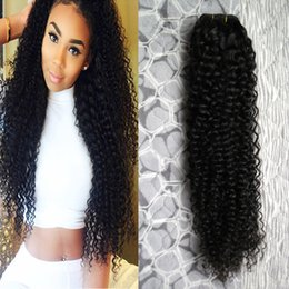 $enCountryForm.capitalKeyWord Australia - Brazilian kinky curly Hair Bundles Hair Weave Bundles 10-28inch Natural Color Free Shipping Remy Hair