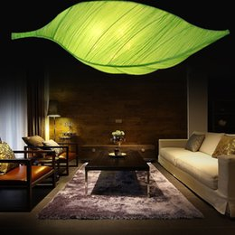 beauty salon lamps Canada - New Chinese creative fashion beauty salon lamp Hotel lobby restaurant teahouse bedroom living room cloth art leaf chandelier