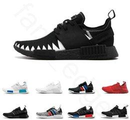 4c2f28093b736 NMD Runner OG R1 Primeknit Triple black White Red Blue Running shoes For Men  Women Beige OREO NMD Runner Sports Sneaker Outdoors 36-45