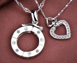 $enCountryForm.capitalKeyWord Australia - 925 Silver pendant single-style multi-necklace pure silver couple pendant multi-style Korean version jewelry men's Pendant
