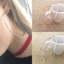 earring loops Australia - 30-100MM Big Hoop Earrings Smooth Circle Earrings Ear Loop for Women Jewelry Fashion Girl's Exaggerated Accessories