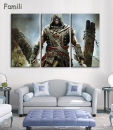 Poster Frame Wholesale Australia - 3Pcs No Framed Printed assassins creed Game Painting on canvas room decoration print poster picture canvas wall art modern