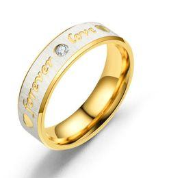 $enCountryForm.capitalKeyWord Australia - Titanium Steel Wedding lovers band Ring for women CZ Zirconia rose gold Engagement Rings men jewelry Gifts best sale