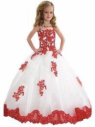 Images Applique Shirts Girl Australia - Princess Flower Girl Dresses Appliques Ball Gown Lovely Girl Prom Party Pageant Flower Girls Dress YTZ106