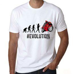 $enCountryForm.capitalKeyWord Australia - Motorcycle t shirt Rider evolution short sleeve tops Original love fadeless tees Unisex white colorfast clothing Pure color modal tshirt