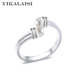 Ring Pearl Celtic Australia - edding rings for women YIKALAISI 925 Sterling Silver Natural Freshwater Pearl Ring Jewelry Interlaced Fashion Rings Jewelry For Women 6-7...