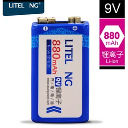 li battery car NZ - Li ion 9V 880mah 9V Lithium ion battery for Wireless microphone multimeter Electric guitar Pickup Smoke detector toy car