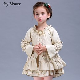 $enCountryForm.capitalKeyWord Australia - Girls Party Retro Dress Children's Spring Autumn New Floral Princess Dress Big Girls Long Sleeve Retro DressesMX190822