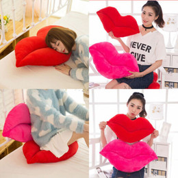 Valentine Lip Australia - Lip Shaped Plush Pillow Valentines Day Gifts Love Decorations 2018 US Seller New