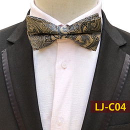 $enCountryForm.capitalKeyWord Australia - Mens Yellow Floral Flower Bow Tie Silk Bow Tie Shirt Bowtie Good for Any Occasions Great for Weddings