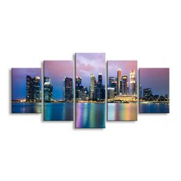 $enCountryForm.capitalKeyWord Australia - 5 pieces high-definition print the view of the city canvas painting poster and wall art living room picture CZFJ5-004