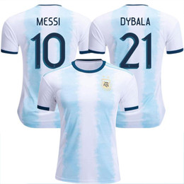 Wholesale New Argentina World Cup soccer Jersey MESSI home DI MARIA AGUERO thai quality Argentina football shirts