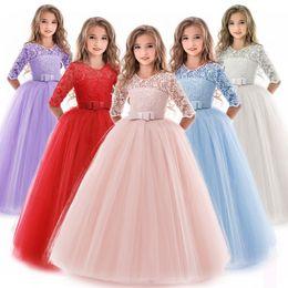 dress for children 12 years 2019 - 2019 Bridesmaid Girl Party Dress Wedding Dress Kids Dresses For Girls Children Maxi Princess 3 6 13 14 10 12 Years Vesti