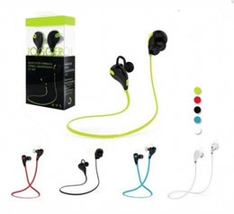 wireless headphones packaging UK - Newest QY7 Wireless Sports Stereo Headset Bluetooth V4.1 Earphone HIFI In Ear Earbud Headphone For iphone Samsung Retail package Free DHL