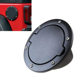 wholesale jeep doors NZ - Auto Abs Fuel Filler Cover Gas Tank Cap 2  4 Door For 07 -15 Jeep Wrangler M00030 Vpwr