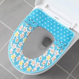 warm toilet seat covers NZ - Wholesale Toilet Seat Covers Decoration Cover Warmer Soft Toilet Seat Cover Plush Pedestal Pan Cushion O-shaped Cushion Print BC BH0463