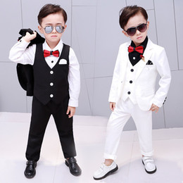 $enCountryForm.capitalKeyWord Australia - 2019 New 3PCS Flowers Boys Suits Wedding Formal Children Suit Tuxedo Dress Party clothing vest pant coat ceremony Costumes 2-12Y