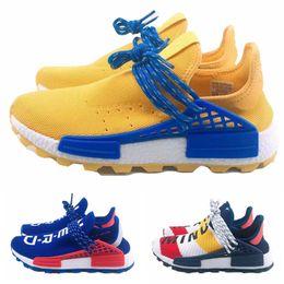 c30a5e563f3a1 2019 Pharrell Williams NMD de race humaine jaune bleu nerd cœur esprit  hommes baskets de designer femmes chaussures de course de luxe taille 36