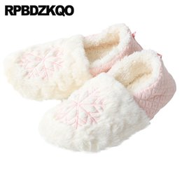 $enCountryForm.capitalKeyWord Australia - chinese fluffy big size pink bedroom shoes fuzzy plush snowflake most popular products footwear women slip on plus fur winter