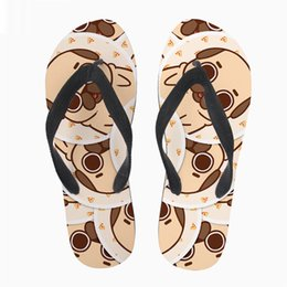 3d Flips Australia - Customized Cute Women Flip Flops Casual Summer Slip-on Animal 3D Pug Dog Prints Women's Water Beach Shoes Flip Flops for Ladies