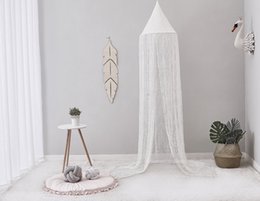Crib Decorations Canada - Lace Baby Round Mosquito Net Photography Props Baby Tent Hung Princess Home Bed Canopy Curtain Crib Netting Room Decoration