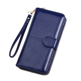 $enCountryForm.capitalKeyWord UK - The new oil wax leather wallet is the outermost layer of skin restoring ancient ways mobile phone bag long zipper bag #818