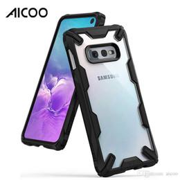 Funda de armadura transparente TPU Cubierta de doble protección para PC dura para iPhone XS MAX XR X 8 Plus Samsung S10 Plus S10e Note9 J2 Core HUAWEI Mate 20 en venta