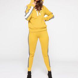 $enCountryForm.capitalKeyWord Australia - Autumn Women's Tracksuits Running Set Hooded Sweatshirts Long Sleeve Jogging Suits 2pcs Gym Sportswear Lady Workout Jumpsuit