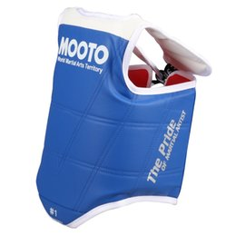 Taekwondo proTecTors online shopping - Mooto TaeKwonDo Red Blue Chest Guard Vest Protector Gear WTF KTA Approved Chest Protector Adult Kids TKD Guards