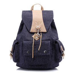 blue school bags girls UK - High Quality Washed Canvas Backpack Women Leisure Travel Backpack School Bags For Teenage Girls Mochilas Mujer 2018 Bagpack J190528