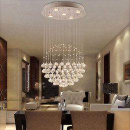 $enCountryForm.capitalKeyWord Australia - Modern Crystal Raindrop Chandelier Lighting Flush mount LED Ceiling Light Fixture Pendant Lamp for Dining Room Livingroom Staircase
