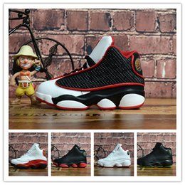 Pink Grey Basketball Shoes Australia - Big discount 13 Grey Pink Black Kids Basketball Sports Shoes 13s Sneakers Cheap Kids Shoes fashion trainer for boys girl
