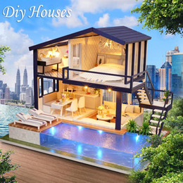 $enCountryForm.capitalKeyWord NZ - DIY Cottage Hut Small House Doll House Wooden Manual Assembly Home Decoration Holiday Birthday Gift Time Apartment