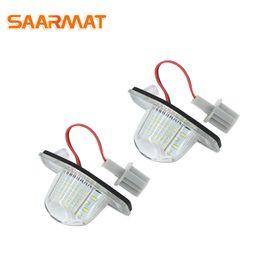 Car liCense plate honda online shopping - 1 Pair LED Number License Plate Light White for Honda Jazz Fit CR V Odyssey etc