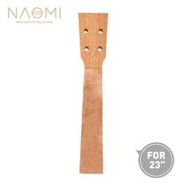 Guitar Neck Part NZ - NAOMI Concert Ukulele Neck Sapele Ukulele Neck For 23 Inch Ukelele Uke Hawaii Guitar Parts Ukulele Luthier DIY New