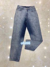 $enCountryForm.capitalKeyWord Australia - High end women girls women girls Pencil Pants Women Denim Beading printing Slim fit Trousers Middle waist jeans blue S M L