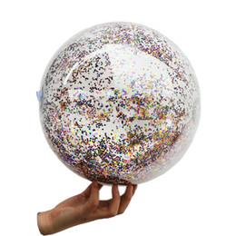 cf4205aa4 Pelota de playa de lentejuelas inflable transparente para niños Piscina  para adultos Piscina de bolas de agua Anillo de natación Juguete inflable  Colchoneta ...