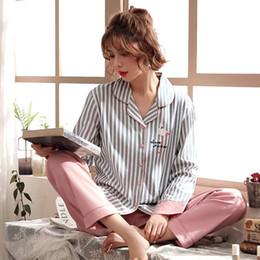 Discount sexy long pajamas for women - Women Clothes For Autumn Winter Pajamas Sets O-neck Sleepwear Lovely Rabbit Pijamas Mujer Long Sleeve Cotton Sexy Pyjama