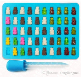 Cupcake Making Australia - Food Grade Silicone DIY Candy Gummie Bear Making Gelatin Maker Fishing Lures Cupcake topper Chocolate Making Ice tray with dropper 100wn067