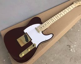 New Electric Guitar Brands Australia - Free Shipping 2015 brand new hot wholesale high quality red electric guitar, maple finger plate, gold hardware, customizable