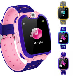 smart watch security NZ - Child Smart Digital Watch With Security Anti-Lost Sos Emergency Call Lbs Positioning Kids Clock Intelligent Power Saving Watches #608