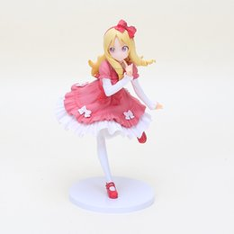 Discount elf dolls - 18cm anime Eromanga Sensei Action Figure Elf Yamada Dress Ver girl Model PVC 1 7 Scale Collection model Doll children gi