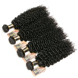 $enCountryForm.capitalKeyWord Australia - Chirstmas Gifts 100% unprocessed Malaysian Kinky Curly Hair Bundles 8A Virgin Human Hair Weave Extension 4bundles Total 400g