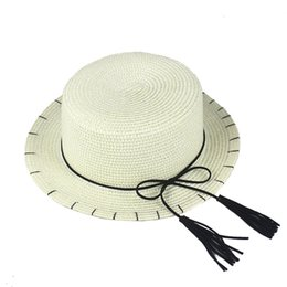 $enCountryForm.capitalKeyWord Australia - Summer sun protection straw hat flat top tassel fisherman hat outing sun protection sunshade personality parent-child straw hat lady HYcm
