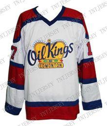 Oil Quick Australia - Custom Edmonton Oil Kings Hockey Jersey Semchuk stitch any number any name Mens Hockey Jersey