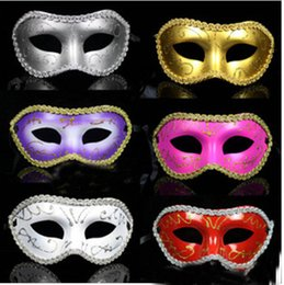 Wedding Dresses Christmas Australia - Women Men Mask Mardi Gras Party Masquerade Halloween COSPLAY Dress Ball Performance Unisex Colored Drawing Masks Christmas Wedding
