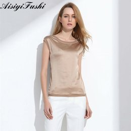 1e18a873edf0a1 Women's Blouse 2019 Summer Shirts Casual Ol Silk Women Blouse Shirt Sexy  White Red Tops Loose Sleeveless Work Wear 6 Color Blusa T19052909